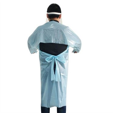 CPE gown-apron -with-long-sleeve-personal-protective-equipment